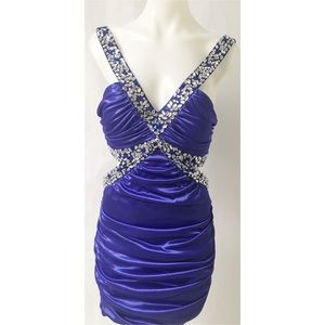 Blue Sequin Dress Size XL